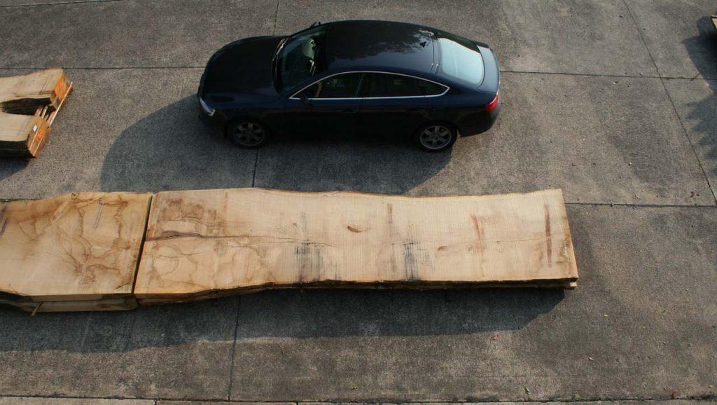 Eichenbohle größer als Audi A5