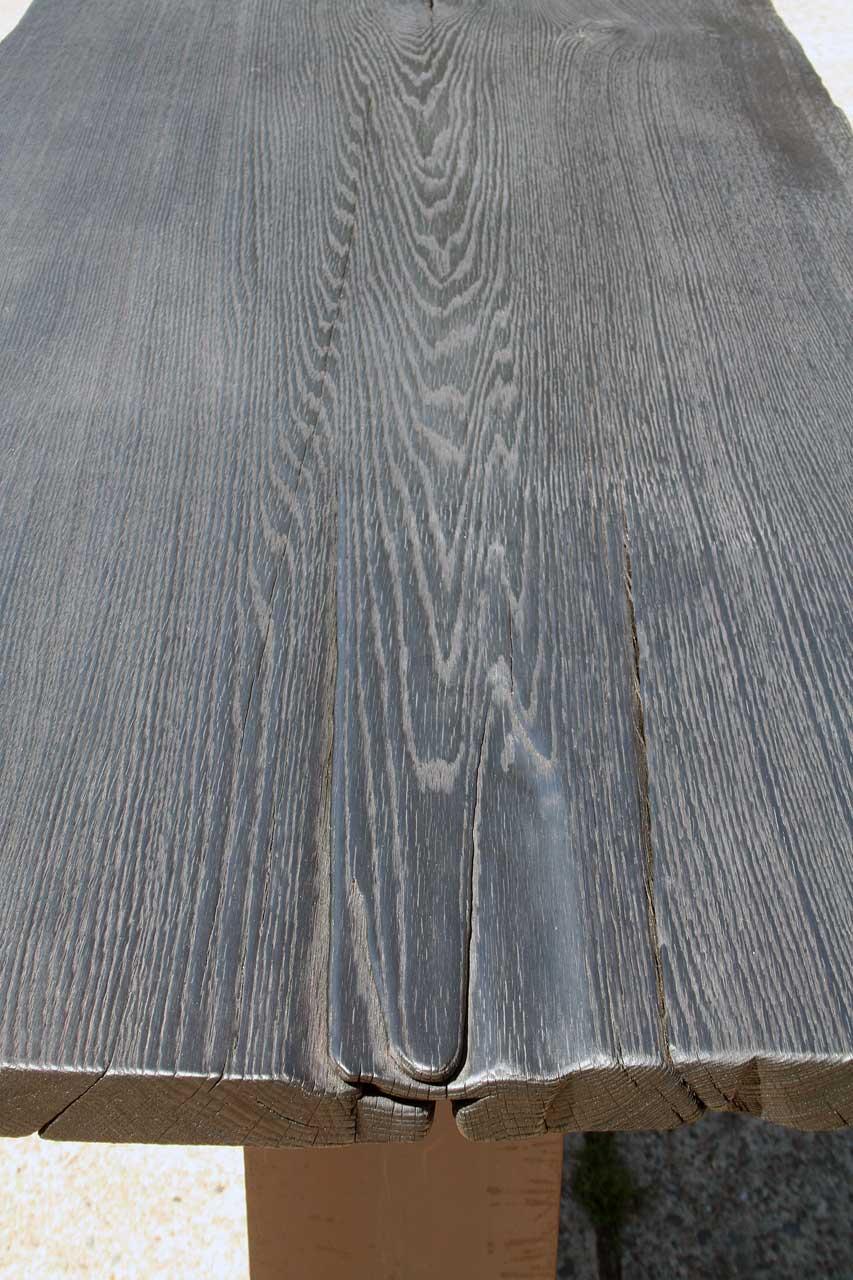 Tischplatte Eiche-geköhlt-Maserung