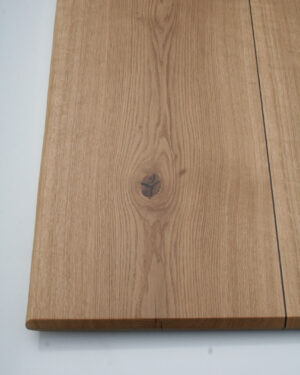 Massivholzbohle Eiche mit Intarsienarbeiten