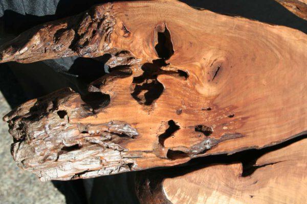 Wildkirsche Tischplatte Detailaufnahme