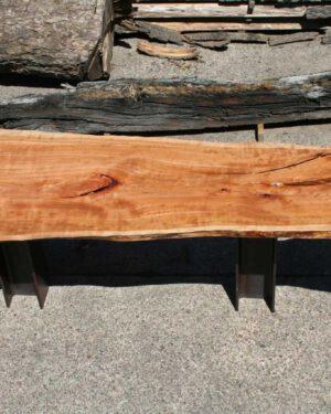Massivholztischplatte Kirschbaum aus einem Stamm geschnitten
