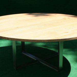 Baumtisch rund Eiche Massivholz aus deutschen Wäldern