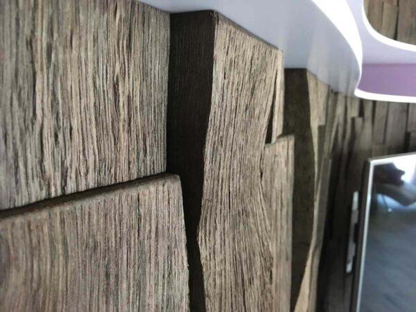 Spaltholzwand Detaillösung