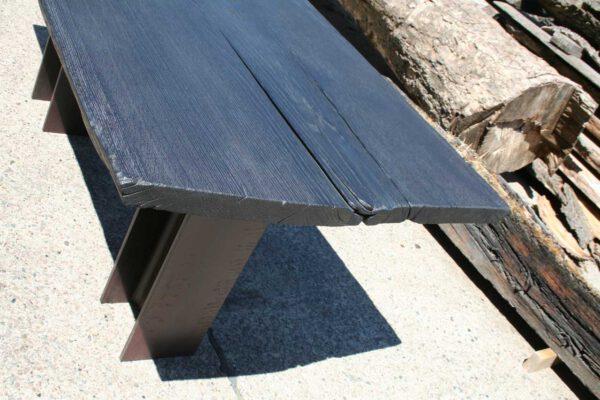Tischplatte Eiche geköhlt Plattenstärke