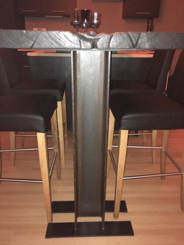 Tischfuß für freistehendes Tischgestell Stahlträger