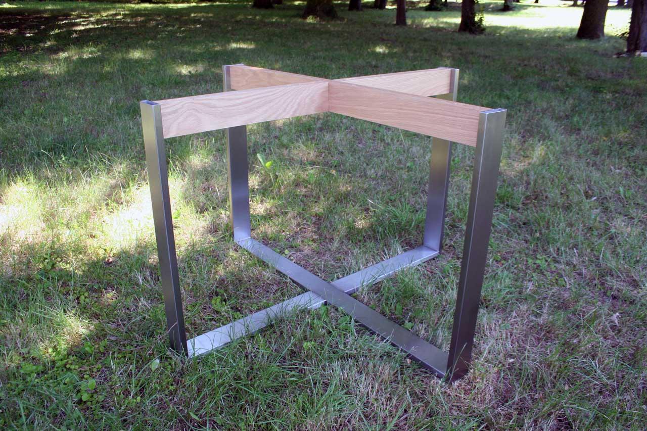 Tischgestell Für Runde Tischplatte.Tischgestell Edelstahl