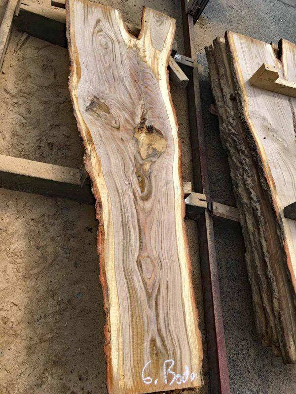 Eichenmassivholzbohle für Gartenmöbel